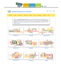 Spanish Grammar website screenshot