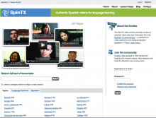 SpinTX video archive website screenshot