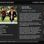 Chansons français website screenshot
