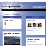 Enhancing French Skill website screenshot