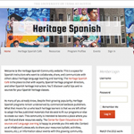 Heritage Spanish website screenshot