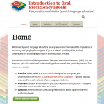 Intro to oral proficiency website screenshot