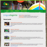 Língua da Gente website screenshot